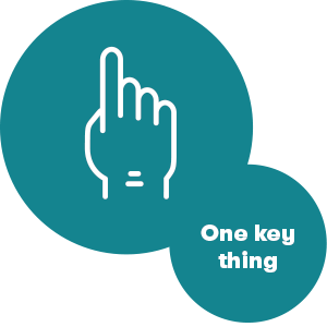 One Key Thing