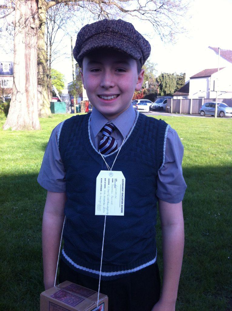 Thomas in costume
