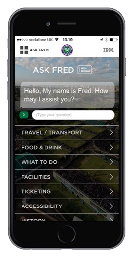 Image: Wimbledon app Ask Fred (KHWS Blog)